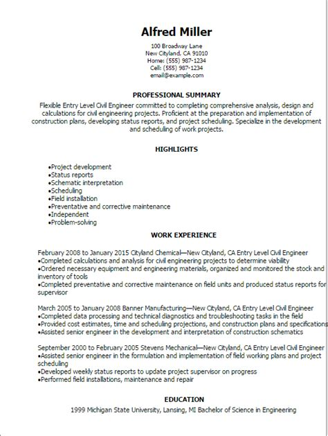 Civil engineer resume samples with headline, objective statement, description and skills examples. Civil Engineer Resumes - Resume Sample
