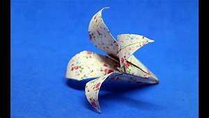 How To Make An Origami Flower    Instructions Step By Step