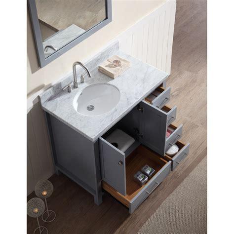 ariel cambridge  single sink vanity set  left
