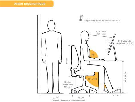 norme hauteur bureau ergonomie de espace bureau