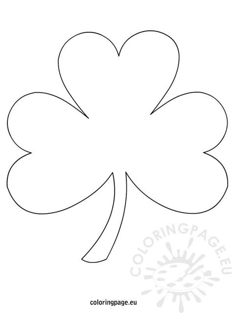 Shamrock Template Free by Shamrock Template Coloring Page