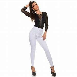 vetement femme fashion pantalon jeans blanc vetement With vêtements femme fashion