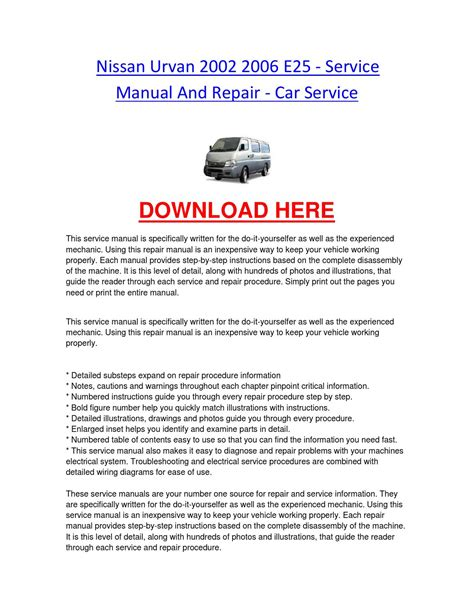 service manual how to work on cars 2002 kia optima engine control jcdillon110 2002 kia nissan urvan 2002 2006 e25 service manual and repair car service by nissancarrepair issuu