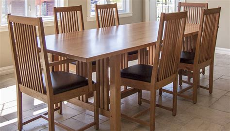 black dining room table and chairs 7 pieces cherry mission style dining room set with long
