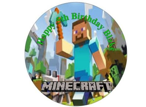 minecraft edible 7 cake topper sugar sheet for sale in dalkey dublin from flour power