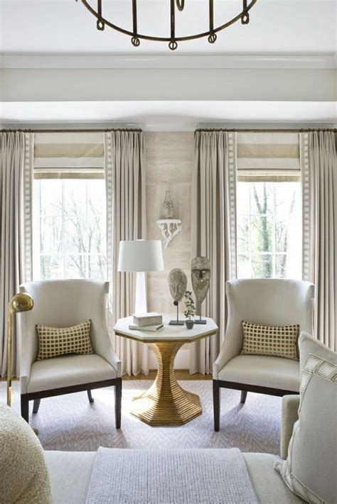 window treatment ideas roman shades  drapery panels