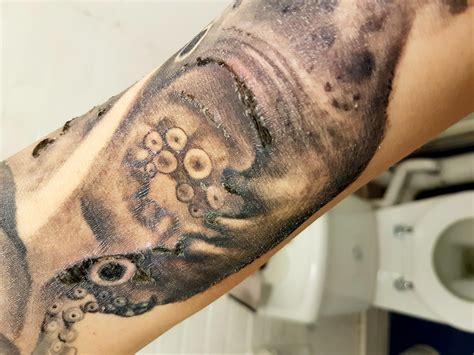 ditch healing super sore big tattoo planet