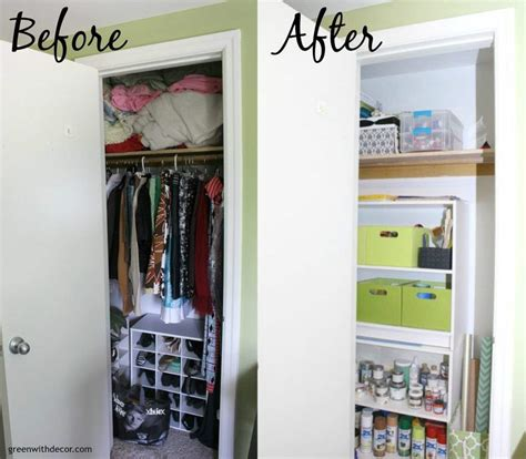 Organize Craft Closet by Green With Decor How To Organize A Craft Closet Without