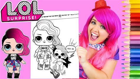 coloring lol surprise dolls rocker lil sister coloring page prismacolor pencils kimmi