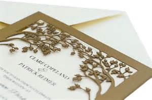 custom wedding programs laser cut wedding invitations tree tree