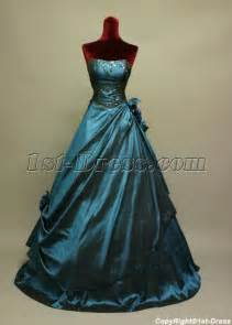 cheap wedding rentals navy blue strapless masquerade quinceanera dresses img