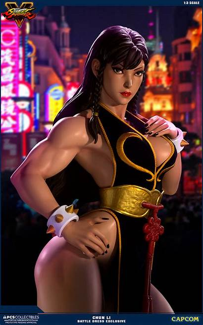 Chun Li Fighter Street Statue Pcs Battle