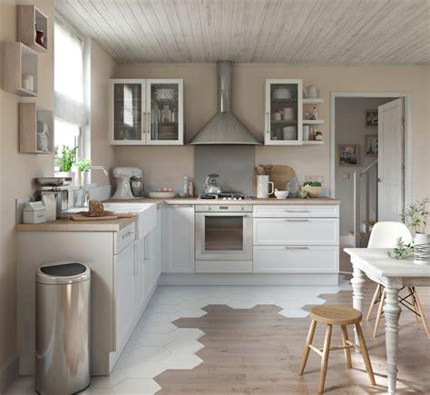 cuisine parfaite alliance parfaite du blanc et du bois pour une cuisine moderne