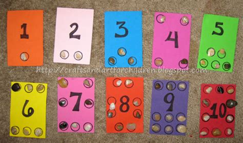 numbers crafts for preschoolers number boards learning to count artsy momma 688