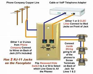 2 Line Phone Cable Wiring