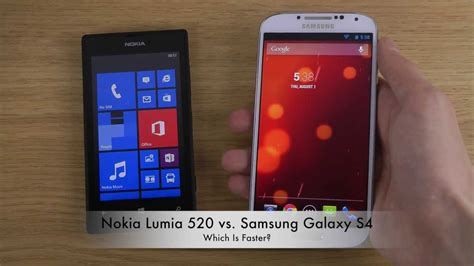 nokia lumia 520 vs samsung galaxy s4 android 4 3 jelly bean which is faster