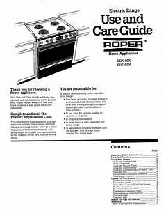 Roper Range Sec350x User Guide