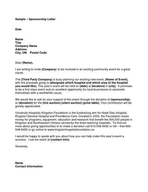 sample sponsorship letter templates