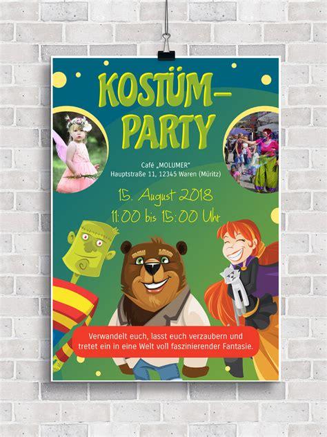 plakate und flyer einladung zu kinderfest und kinderfasching