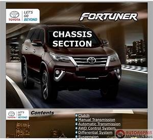 Toyota Fortuner 2017 Service Training