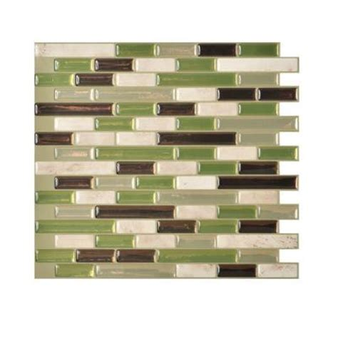 smart tiles home depot smart tiles muretto eco 10 20 in x 9 10 in peel and