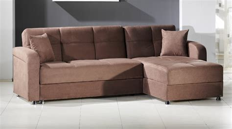 vision obsession truffle brown sectional sofa bed