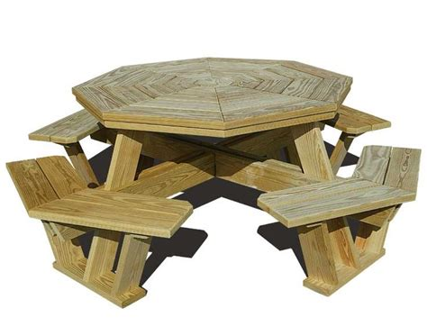 Plans For Wood Octagon Picnic Table