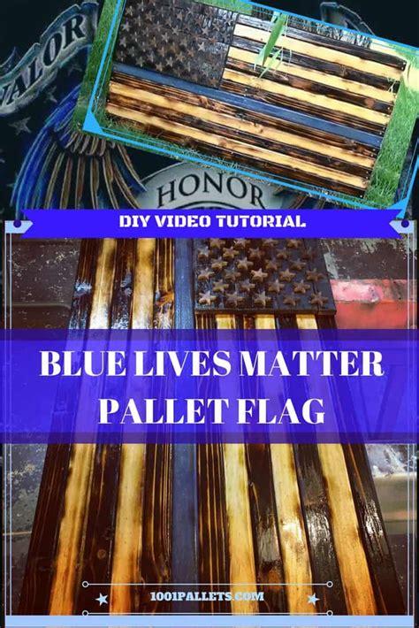 diy video tutorial thin blue  pallet flag  pallets