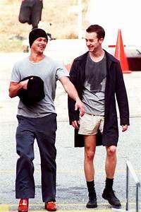 Brad Pitt and Edward Norton in set's Fight Club   Books ...