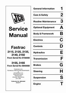 Jcb 2135 Fastrac Service Repair Manual Sn Uff1a00740000 00741001