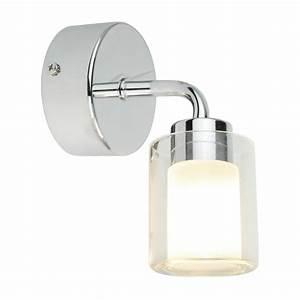 Applique Salle De Bain Avec Prise : inspire csha applique salle de bain verre chrome ~ Teatrodelosmanantiales.com Idées de Décoration