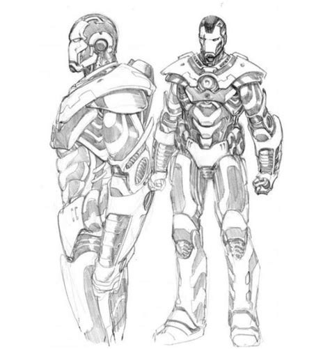 print iron man  war machine coloring pages