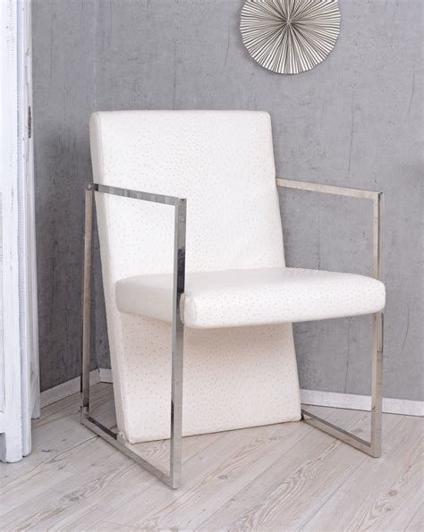 Ostrich Chair Uk chair ostrich leather optik fireplace chair white armchair