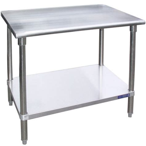 stainless steel table l sg3648 36 quot d x 48 quot l stainless steel work table w under