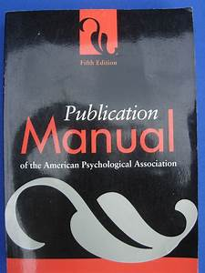 American Psychological Association  Apa  Publication