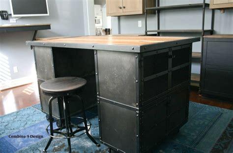 kitchen islandwork station vintage industrialmid