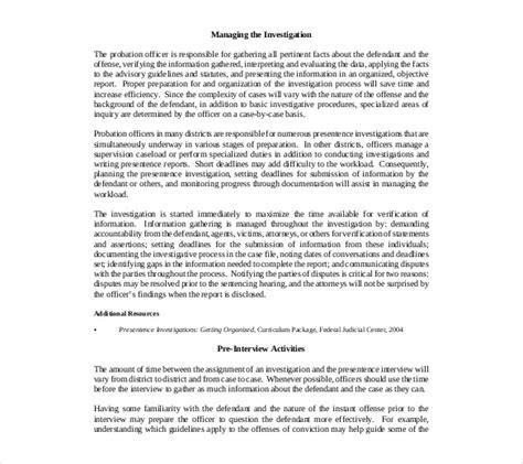 investigation report templates docs  word