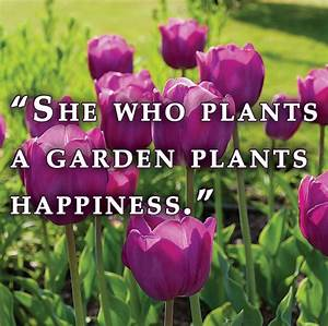 """""""She who p... Garden Happiness Quotes"""