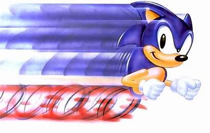 Sonic Hedgehog Running Fast Super Speed Artwork