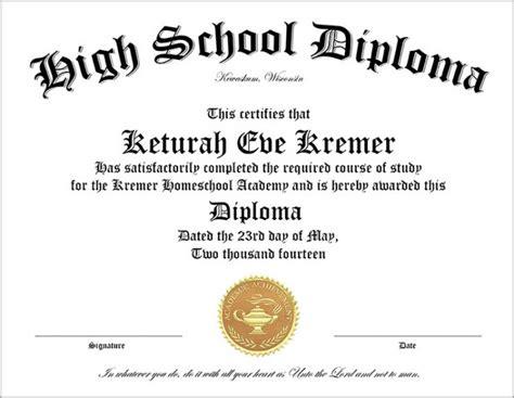 Diploma Template High School Diploma Template Printable Certificate