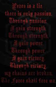 Star Wars Sith Code