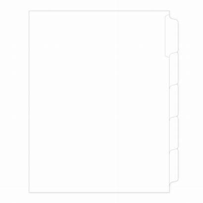 Allstate Legal Divider Tab Blank Letter Side