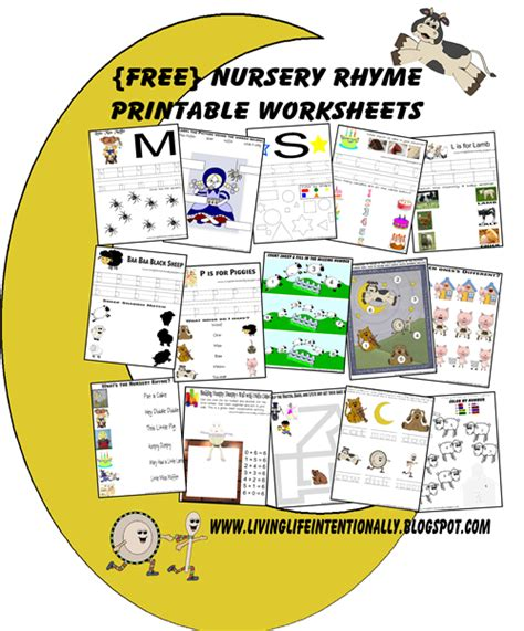 there are worksheets to go along with each nursery rhyme 521 | a95d9db2c4a891635eade5d42018a9c3