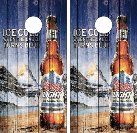 coors light corn hole coors light weathered wood look wraps for boards