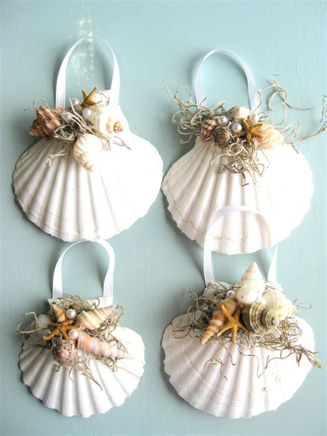 christmas seashell ornaments interior designing ideas