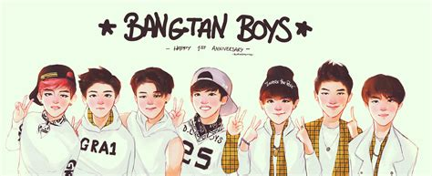 bts 1st anniversary project by bluesushikitty2 on deviantart