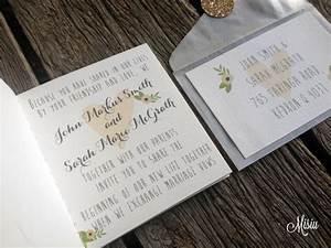 whimsical wedding invitation booklet misiu papier With wedding invitation booklet australia
