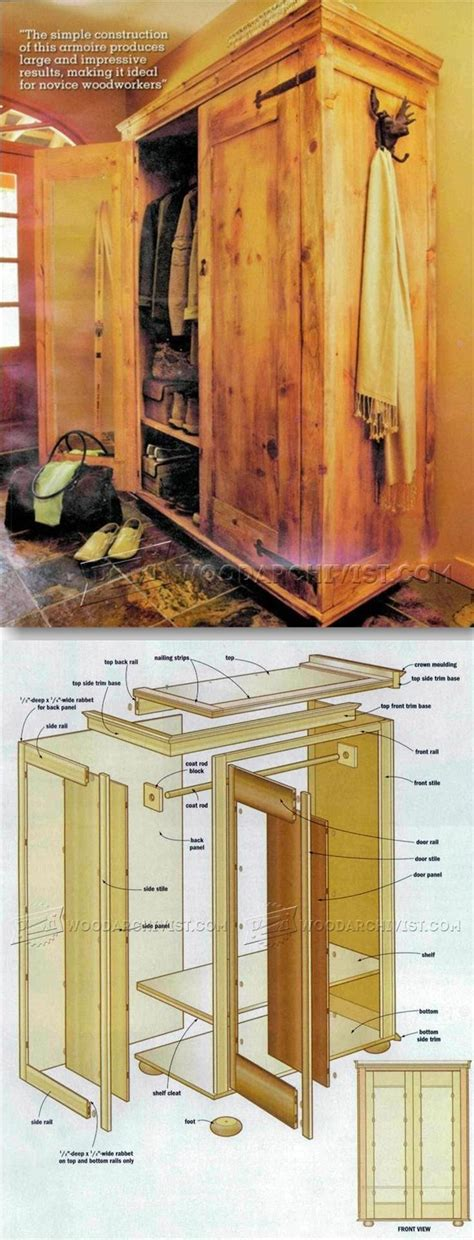 rustic armoire plans furniture plans  projects