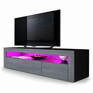 Meuble Salon Noir : meubles bas de salon meubles ~ Teatrodelosmanantiales.com Idées de Décoration