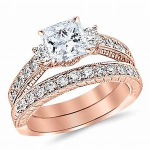 wedding rings for women rose gold set unique 25 rose gold With rose gold wedding ring sets